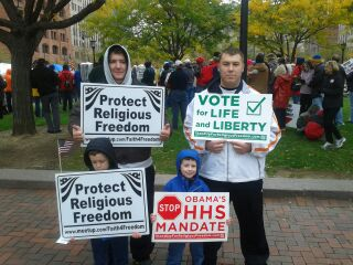 HELP kids at Religious Freedom Rally